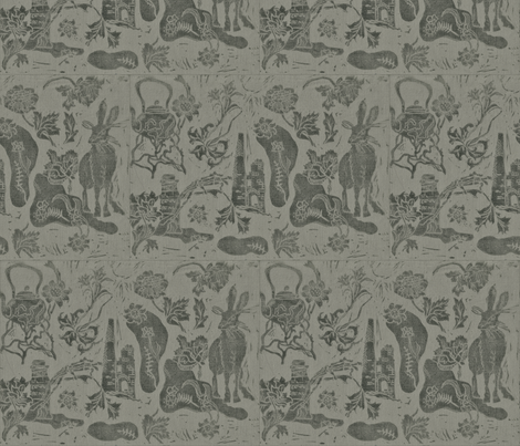 poison_paint_block_print_1 fabric by artist_chloe_birnie on Spoonflower - custom fabric