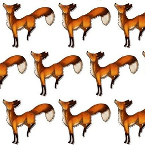 prancing foxes