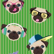 pattern-pug-righe-verde