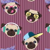 pattern-pug-righe-bordeaux