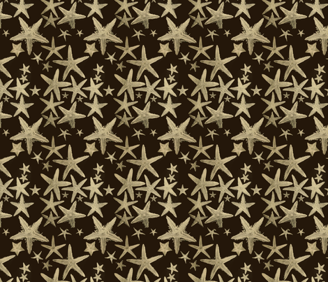 Sea Stars fabric by pattern_archive on Spoonflower - custom fabric