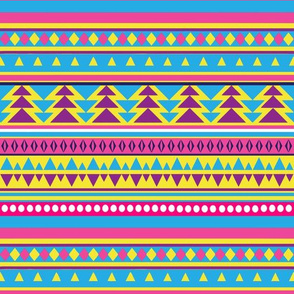 Neon 80s Tribal Pattern