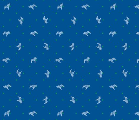 Dala_Horse_Scramble fabric by lizintn on Spoonflower - custom fabric