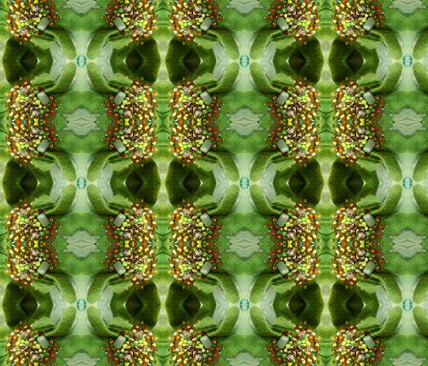 GREEN SUNFLOWERS fabric by cunninghamchristine on Spoonflower - custom fabric