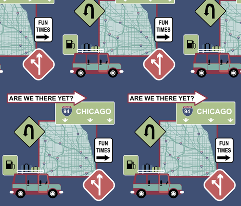 Chicago Road Trip fabric by diseminger on Spoonflower - custom fabric