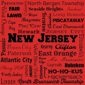 New Jersey cities, red