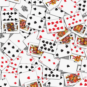 Playing cards Pattern 2.9 x 3.9 - Black Backs