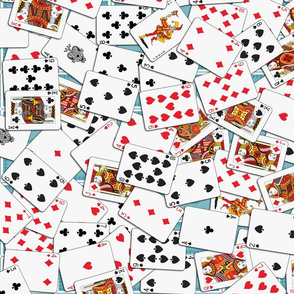 Playing cards Pattern 2.6 x 3.7 - Blue Backs