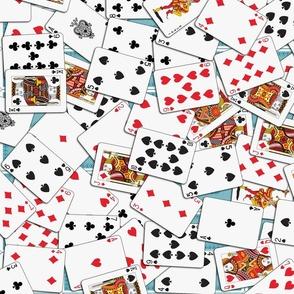 Playing cards Pattern 2.9 x 3.9 - Blue Backs