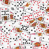 Playing cards Pattern 2.6 x 3.7 - Red Backs