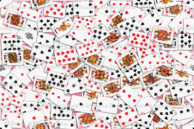 Playing cards Pattern 2.9 x 3.9 - Red Backs