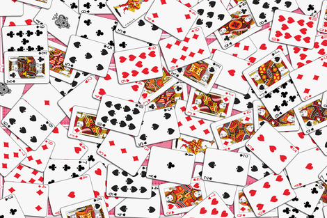 Playing cards Pattern 2.9 x 3.9 - Red Backs fabric by stradling_designs on Spoonflower - custom fabric