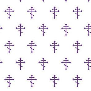 Orthodox Cross in Purple