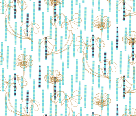 wood sorrel tartan cool fabric by zoe_ingram on Spoonflower - custom fabric