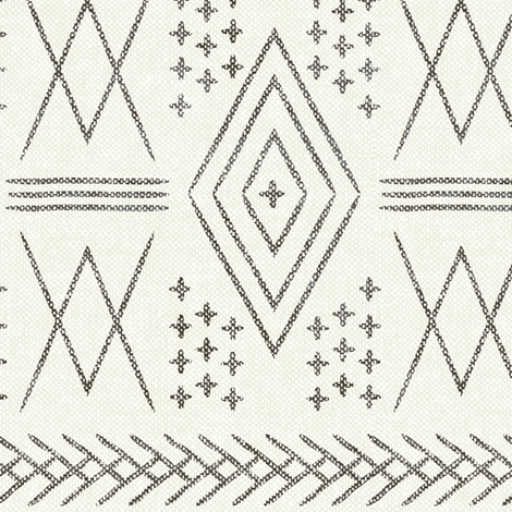 vintage moroccan (med scale) bone fabric by littlearrowdesign on Spoonflower - custom fabric