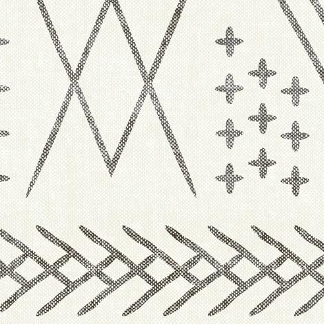 vintage moroccan (large scale) - bone fabric by littlearrowdesign on Spoonflower - custom fabric