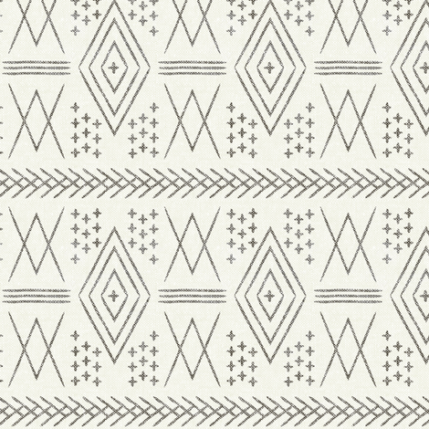 vintage moroccan (small scale) in bone fabric by littlearrowdesign on Spoonflower - custom fabric