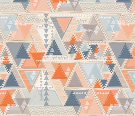Tribal Triangles fabric by j9design on Spoonflower - custom fabric