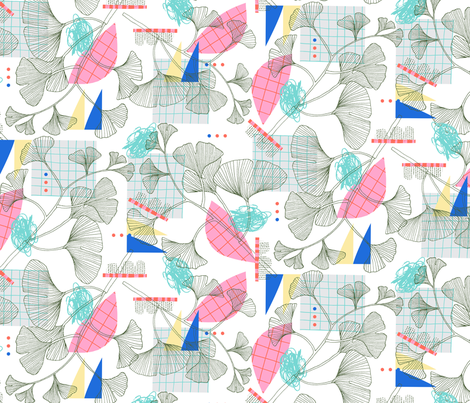 Ginkgo fabric by zoe_ingram on Spoonflower - custom fabric