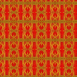 Tribal in Yellow and Red