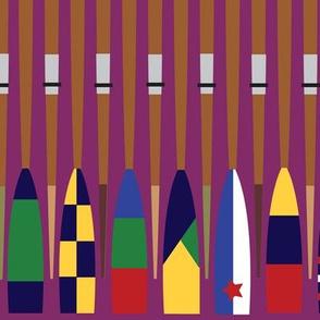 Rowing Oars purple