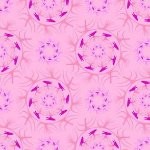 runda raven ljus rosa