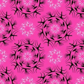 runda raven mörk rosa