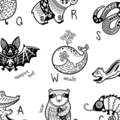 Black&White animals alphabet