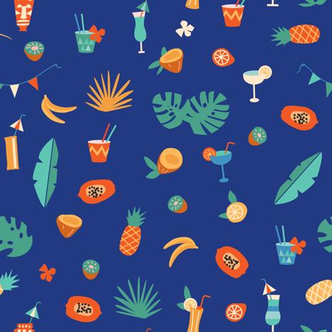 Tiki bar fabric by tasiania on Spoonflower - custom fabric