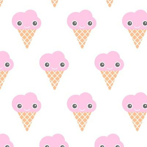Kawaii love ice cream cones and popsicle summer japan lovers design pink girly