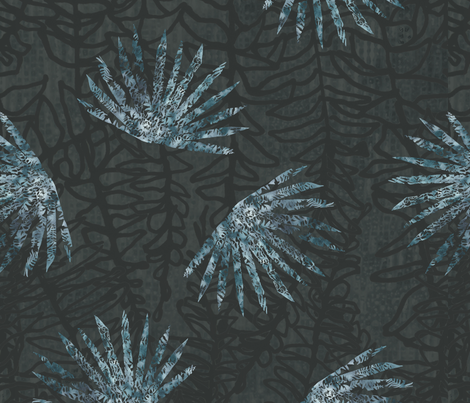 Ditsy Palms fabric by alexandradyer on Spoonflower - custom fabric