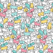 sketch-cats-pattern