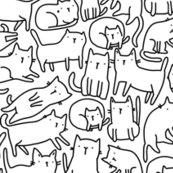 sketch cats pattern blackandwhite BIG
