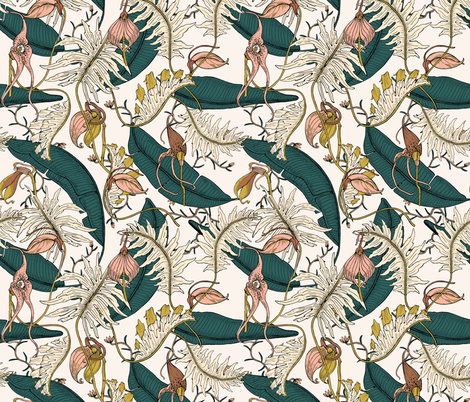 ORCHID_GARDEN_AMORA fabric by holli_zollinger on Spoonflower - custom fabric