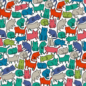 sketch cats pattern 2 BIG