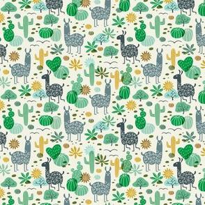 Llamas in the Desert green/gray (mini)