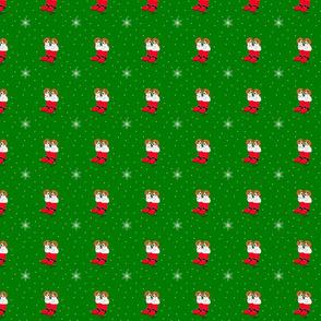 Cute Sleepytown Beagles in a Christmas Stocking