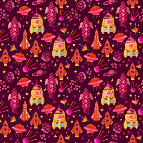 Space fabric by webvilla on Spoonflower - custom fabric