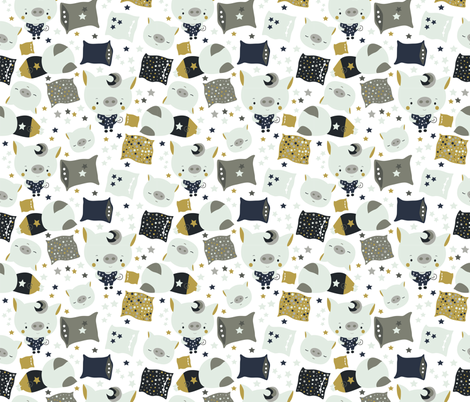 Piggy fabric by webvilla on Spoonflower - custom fabric