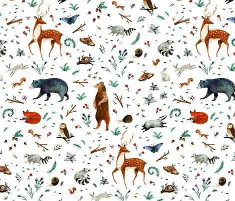 Woodland Soirée fabric by wildship on Spoonflower - custom fabric
