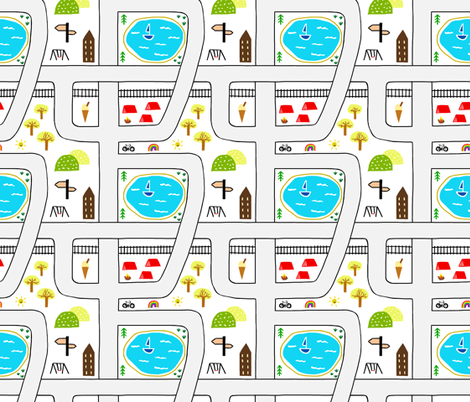 Childhood Map fabric by thewellingtonboot on Spoonflower - custom fabric