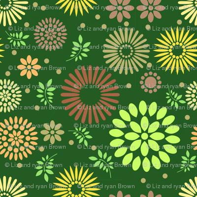 Retro Botanical // Green