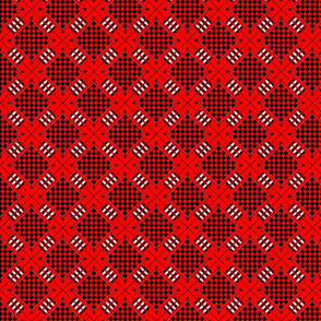 Checkers Board Print Red