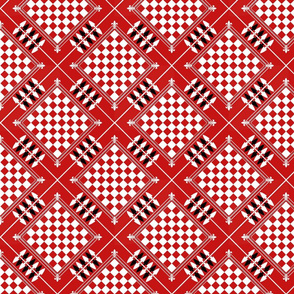 Checkers Board Red Inverted