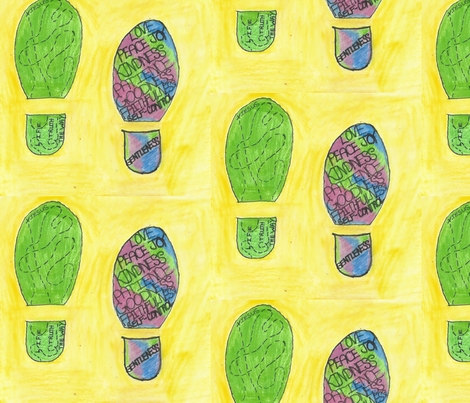 Walking through life! fabric by rcmzstudio on Spoonflower - custom fabric