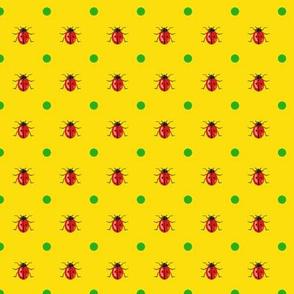 LadyBug with Green Dots