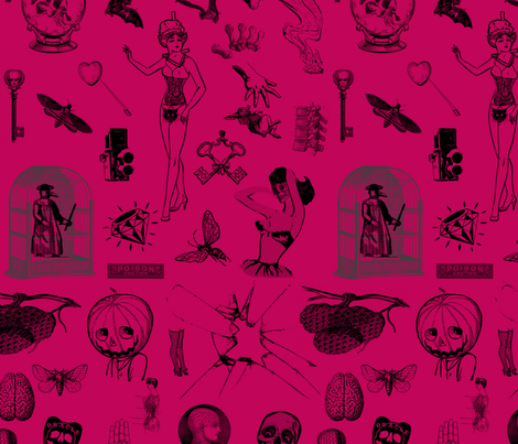 Apothecary fabric by mandamacabre on Spoonflower - custom fabric