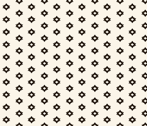 aztec fabric // geometric bear coordinate shape cream and black nursery baby design by andrea lauren fabric by andrea_lauren on Spoonflower - custom fabric