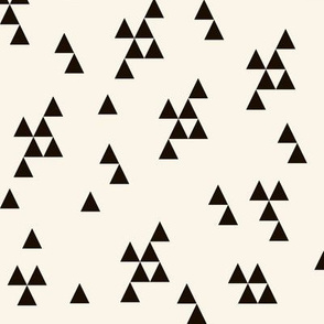 triangles fabric // geo bear coordinate cream and black triangle design by andrea lauren