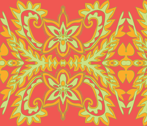 Spring Orchid fabric by nettieandliz on Spoonflower - custom fabric